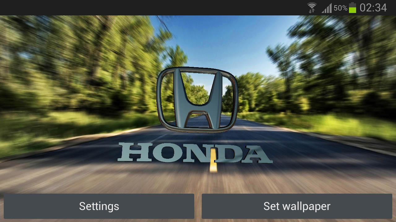 Descargar 3d Honda Logo Live Wallpaper Para Android
