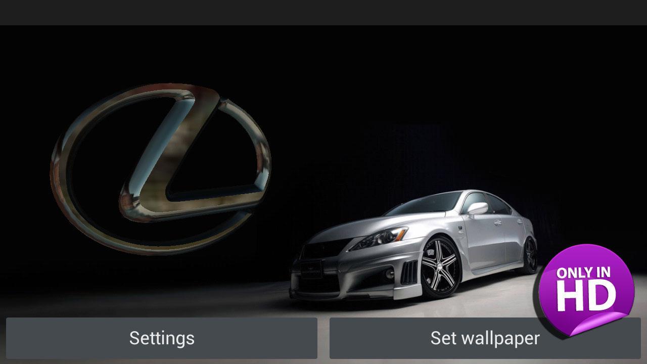 Descargar 3d Lexus Logo Live Wallpaper Para Android