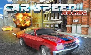 Snelheid van de auto racen