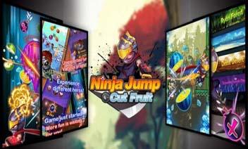 Ninja Jump - fructe tăiate