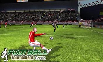 Real football tournament game