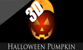3D Halloween dovleac Wallpaper