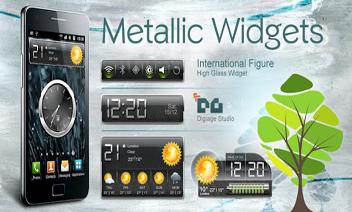HD Widgets métallique