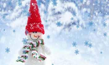 Funny Snowman na żywo Tapety