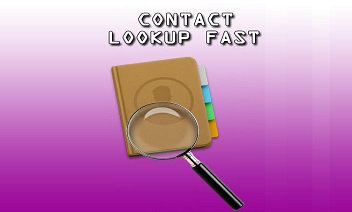 Contact lookup fast