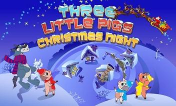 Three Little Pigs Boże Narodzenie
