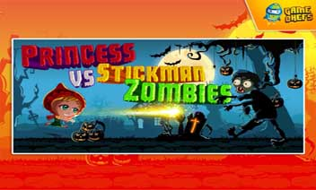 Princesa vs Zombies Stickman