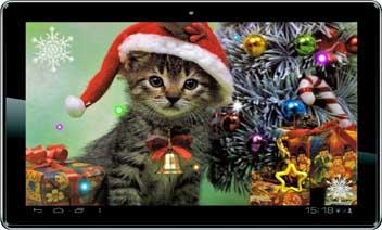 السنة الجديدة كيتي خلفية حية - جديد عام كيتي livewallpaper