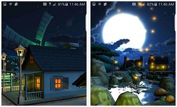 Tecknad natt town 3D LWP