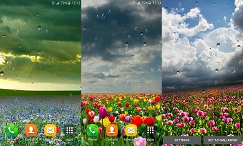 Proljetna kiša LWP od Locos aplikacije