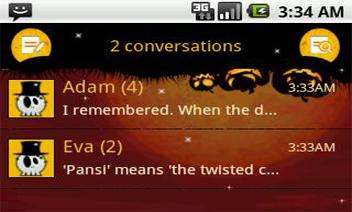 Pansi SMS موضوع هالوين