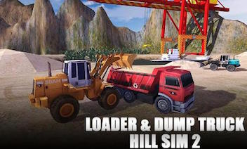 Loader och dumper Hill SIM 2