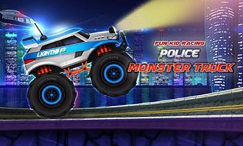 Eğlenceli çocuk yarış: Polis canavar kamyon