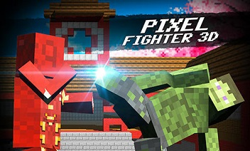 Cube pixel fighter 3D