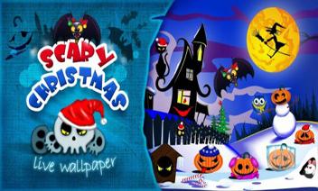 วอลล์เปเปอร์ที่น่ากลัวคริสต์มาสสด