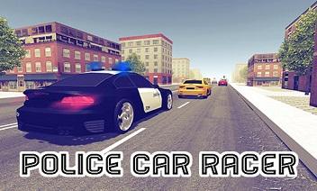 Polis arabası yarışçı 3D