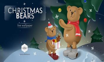 الدببة عيد الميلاد LWP مجانا