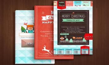 بطاقات عيد الميلاد لايت بريد