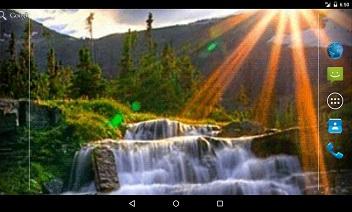 Cascada Rays Live Wallpaper