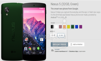 Smartphone LG Nexus 5 will be available in 6 more colors