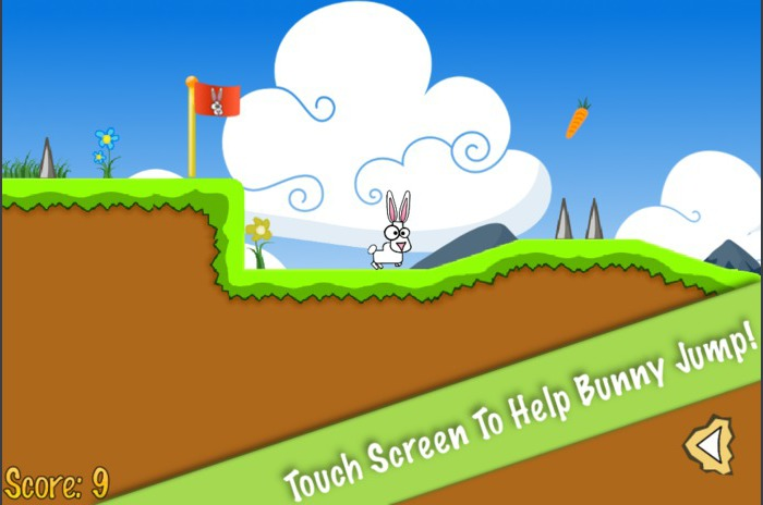 Hop Hop Bunny, a platformer