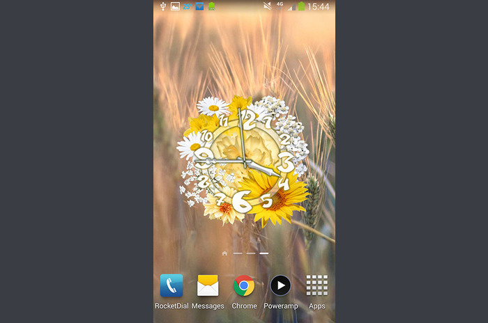 Reloj de flores