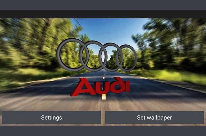 3D AUDI Logo Live Wallpaper