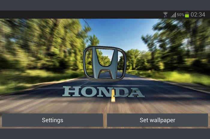 3D HONDA Logo Live Wallpaper