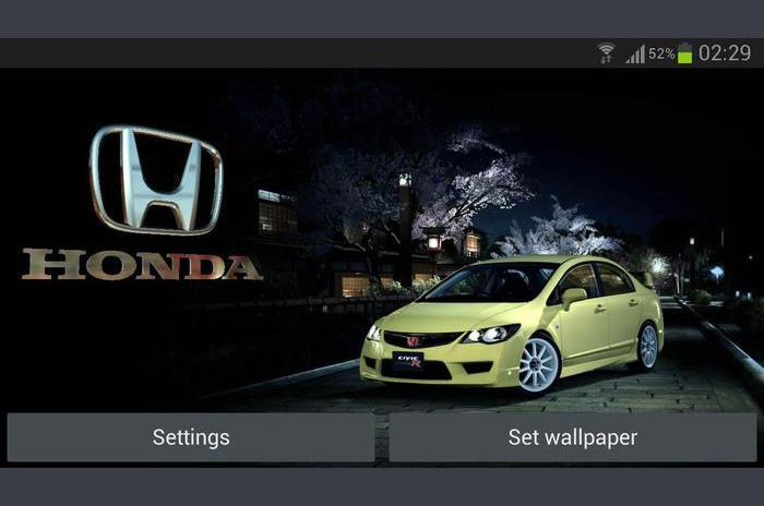 3D HONDA Logo uživo Pozadina