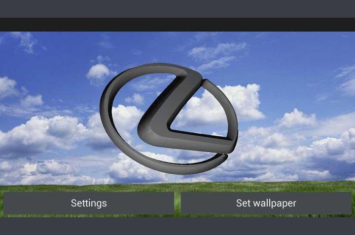3D LEXUS Logo Live Wallpaper