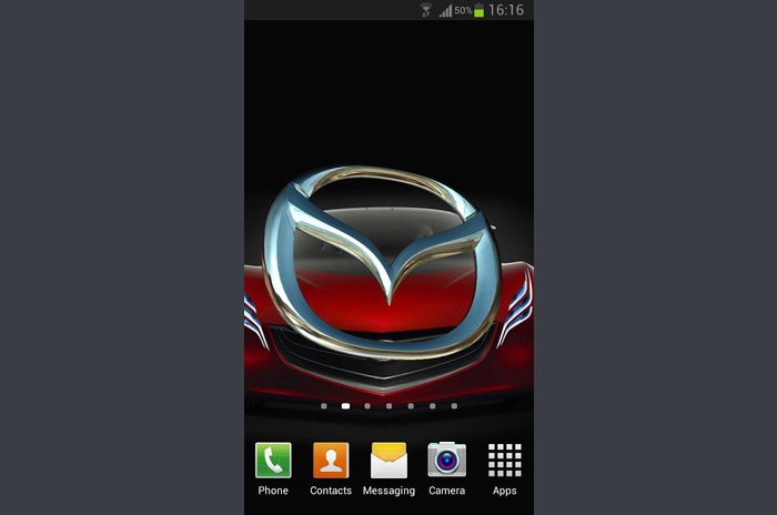 3D MAZDA Logo Live Wallpaper