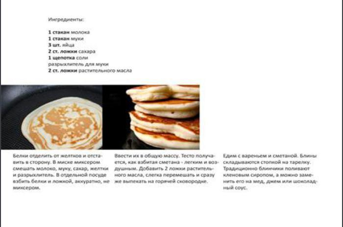 Pancakes and fritters - dishes recipes