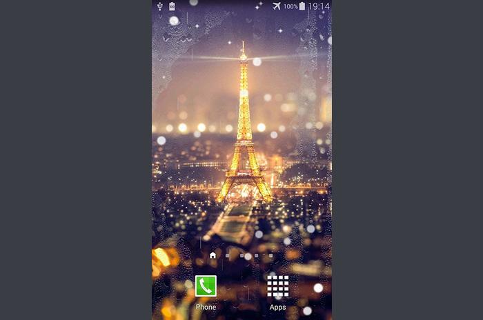 Paris night live wallpaper