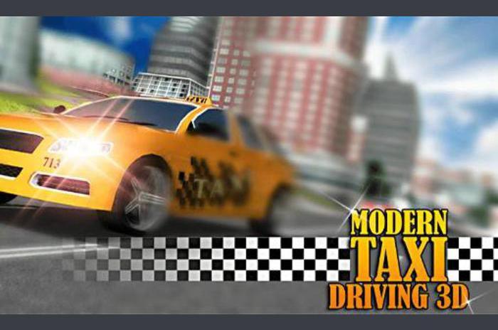 Moderne taxichauffeur 3D