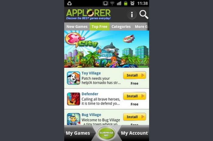 Applorer Best Games FREE