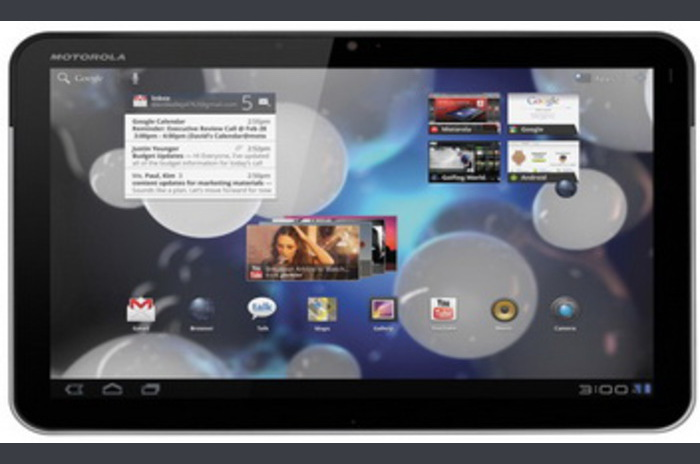 Motorola has a problem with cleaning the data after repair Motorola Xoom