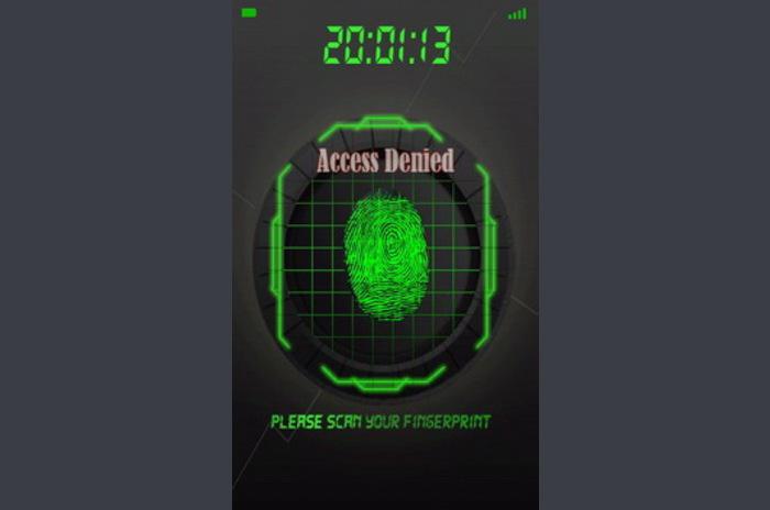 Security Scanner palec