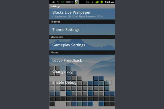 Blocks Live Wallpaper