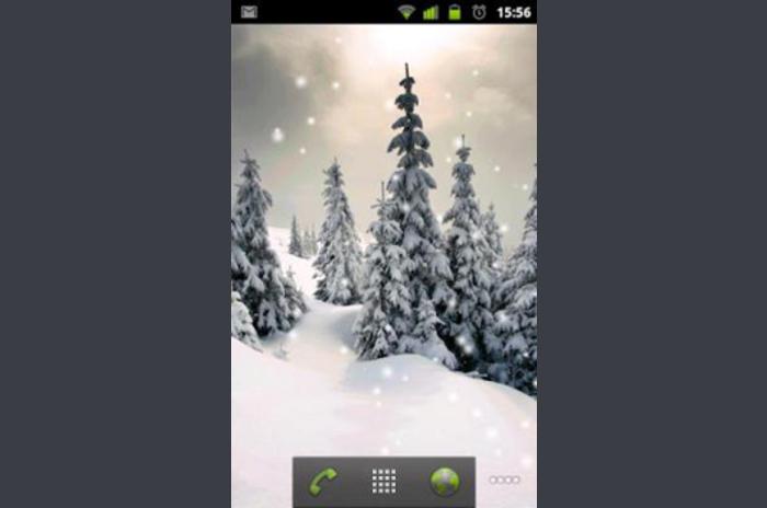 Uživo Snow Pozadina