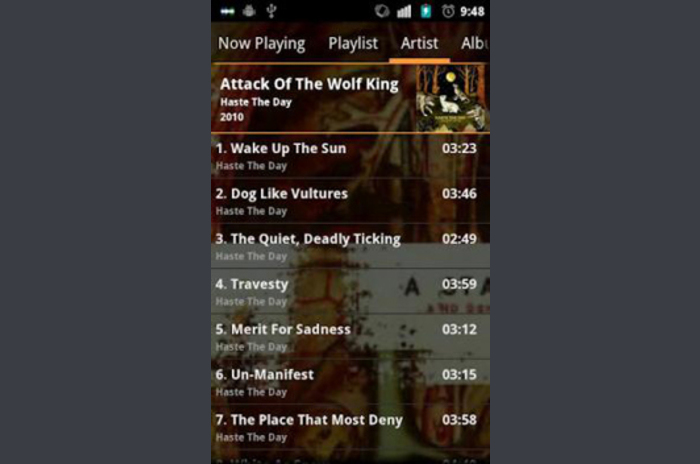 GoneMAD Music Player ICS Holo Orange Skin