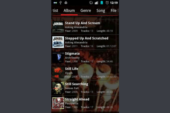 GoneMAD Music Player ICS Hologramska Crvena kože