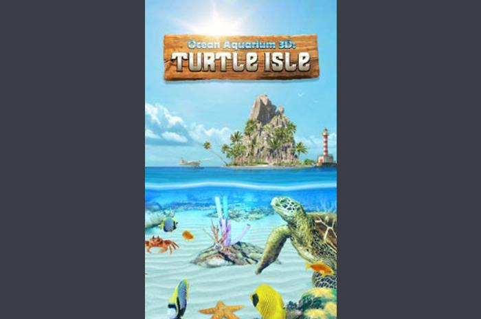 Aquarium 3D Tortue Isle