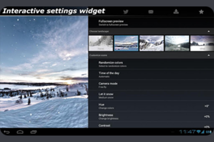 Winter 3D Live Wallpaper - interaktiv vinter tapeter