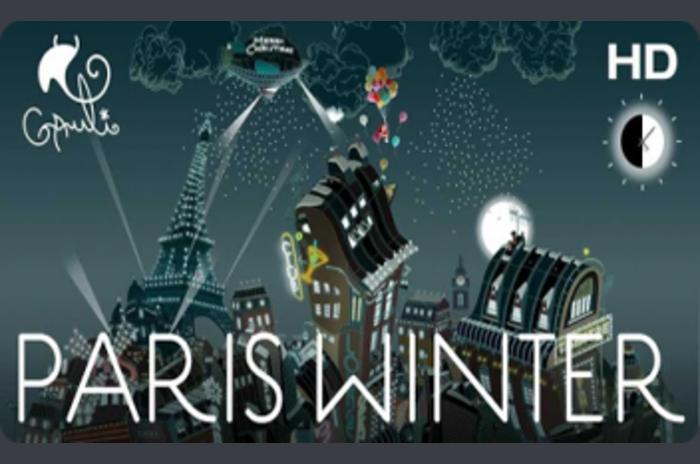 Paris winter - winter, the city of love Paris