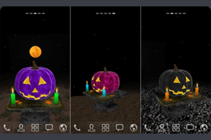 3D Halloween Tök Háttérkép