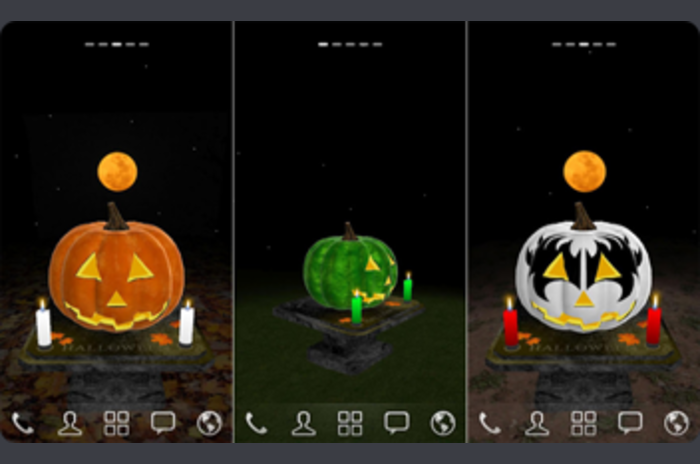 3D Halloween Pumpkin Wallpaper