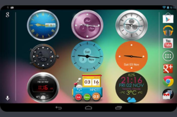 Gyönyörű Clock Widget Pro