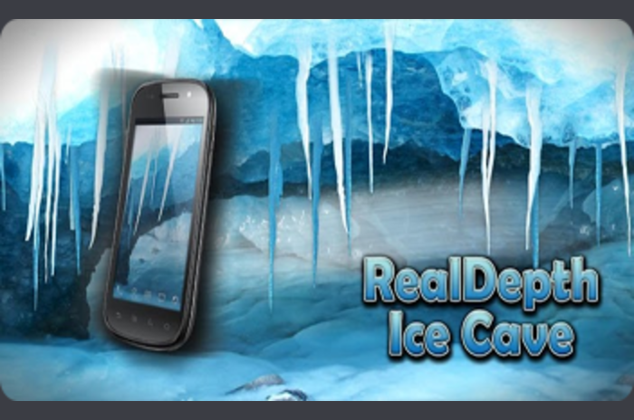 RealDepth Ice Cave LWP