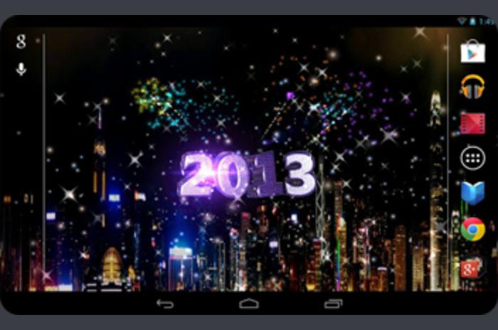 2013 New Year Premium - 3D LiveWallpaper