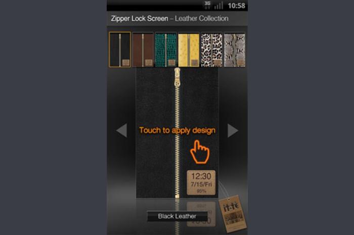 Zipper Leather Collection de verrouillage